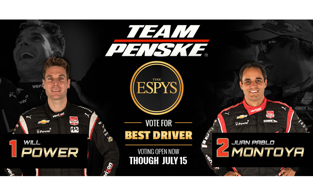 Two Verizon IndyCar Drivers Nominated for the 2015 ESPYs