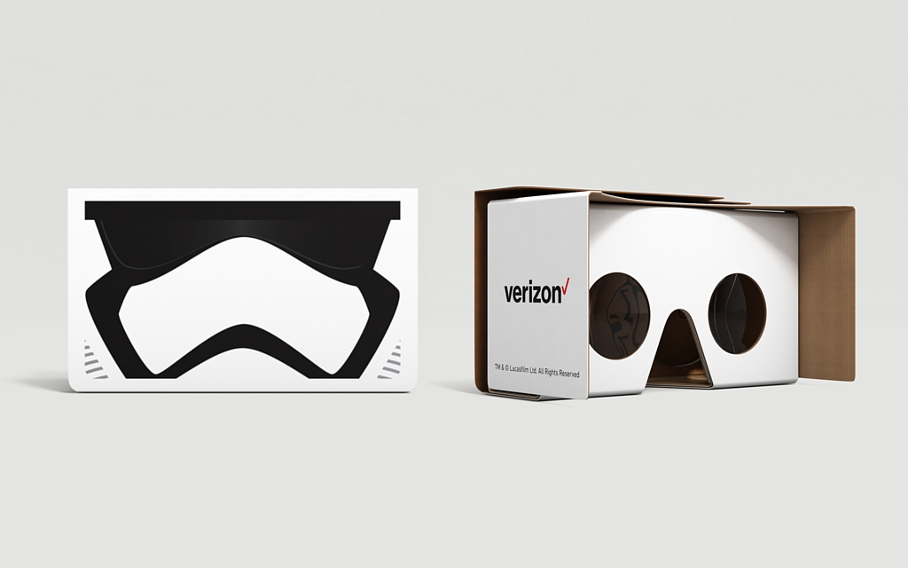 Star Wars-themed Google Cardboard viewers available exclusively at Verizon stores today