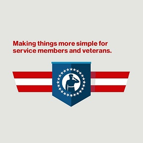 Supporting active military and veterans...
