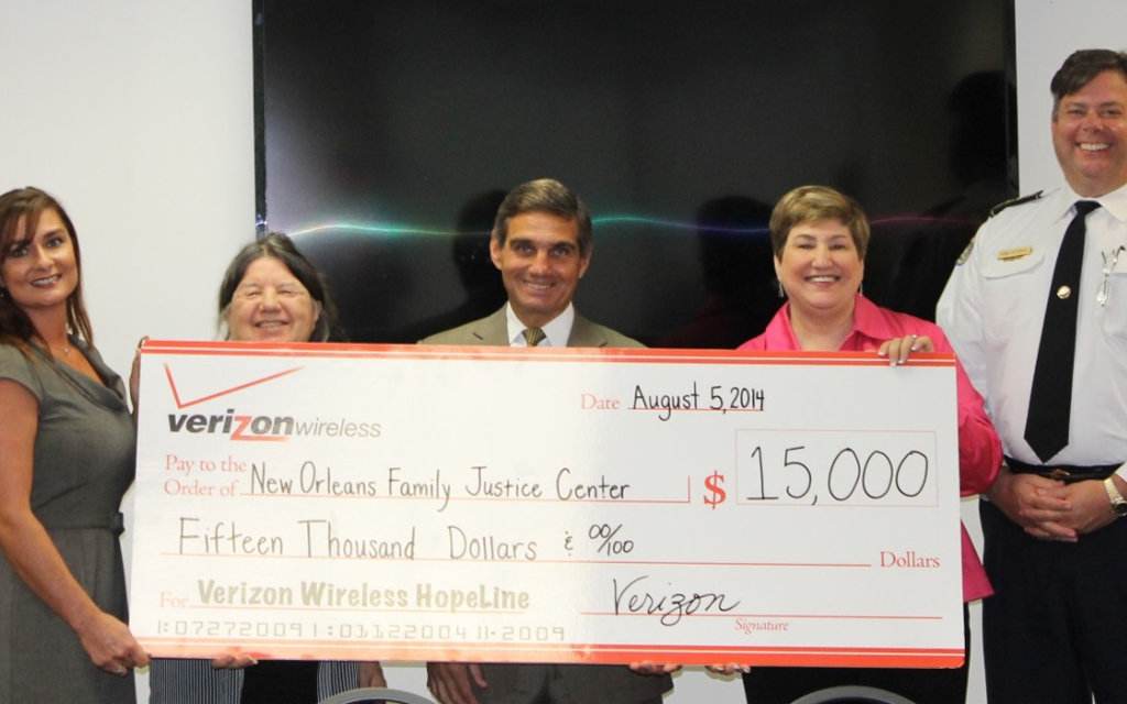 Verizon Provides $15K Grant to New Orleans Domestic Violence Agency