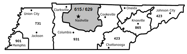 615 Area Code Map Related Keywords & Suggestions - 615 Area Code Map ...