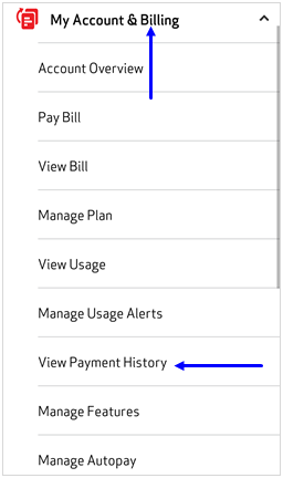 Image: MVM View Payment History Screenshot
