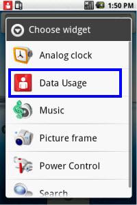 Android Data Usage Widget 1