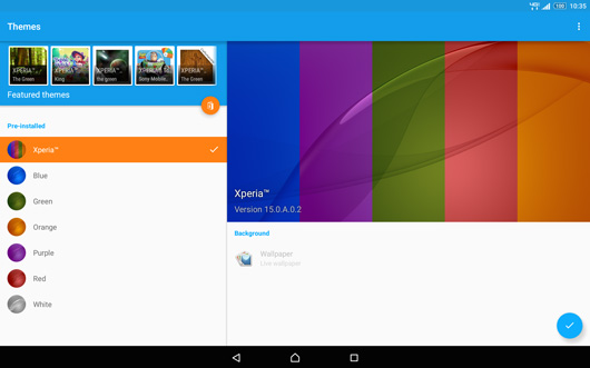 Xperia Sony Z2 Themes - First Impressions