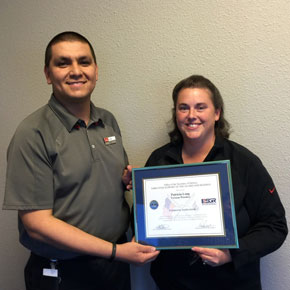 Patriot Award for Oregon Store Manager
