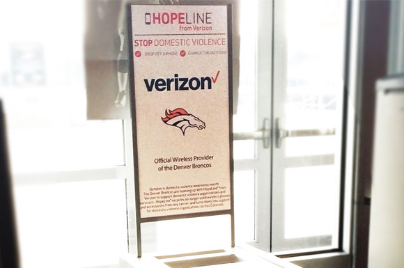 Denver Broncos and Verizon Wireless team up to help prevent domestic violence