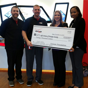 Verizon Foundation grant awarded to Safe Homes of Orange County NY