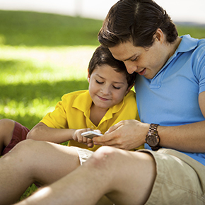 Devices Help Dads Balance Personal, Pro...