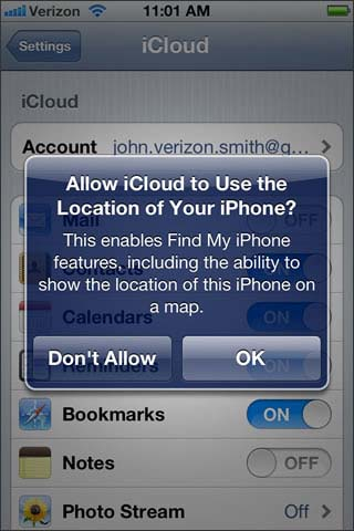 Select location option