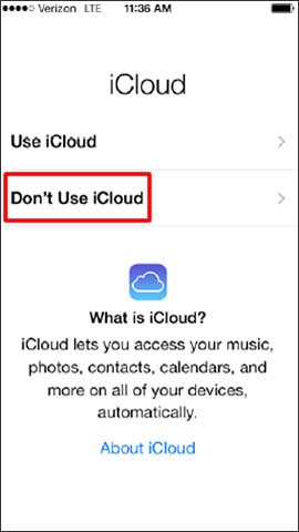 Sont use iCloud