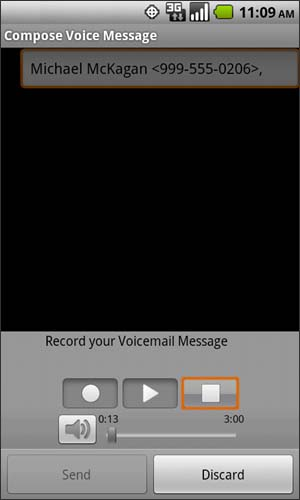Compose Voice Message with Stop