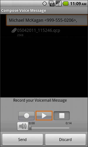 Compose Voice Message with Play