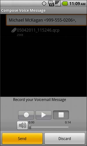 Compose Voice Message with Send