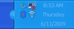 System tray wireless network connection icon