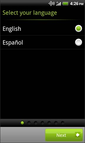 Select language with Next