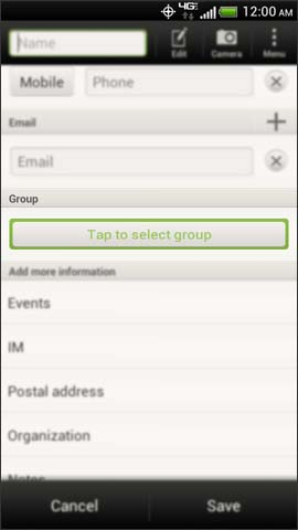 Group drop down