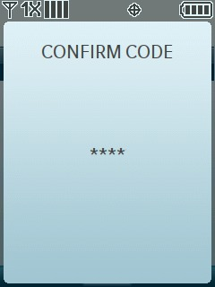 Re-enter the new code