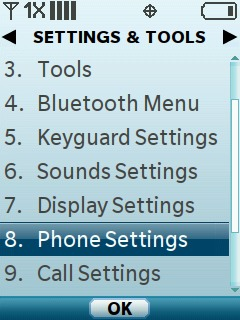 Select Phone Settings