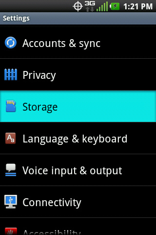 Settings with Storage
