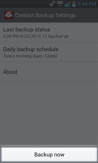 Backup Assistant Plus select Back up now (at the bottom of the screen)