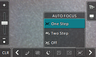 Auto focus options