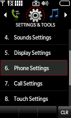 Phone Settings Option