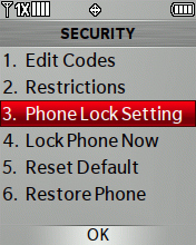 Phone Lock Setting