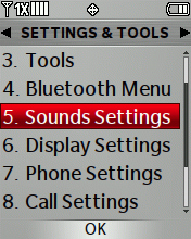 Sounds Settings