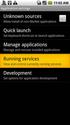Running services