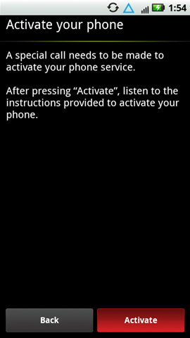Activate phone with Activate