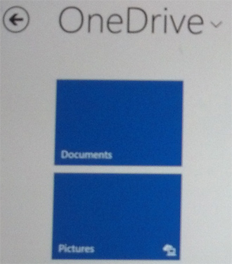 OneDrive with folders