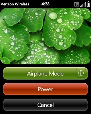 Touch Airplane Mode