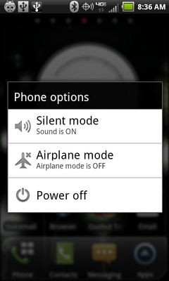 Select Airplane mode