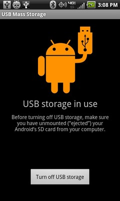Select Turn off USB storage
