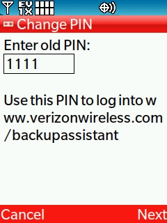Enter the old PIN