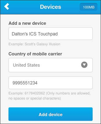 Add a new device info added