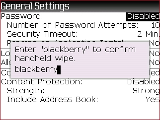 BlackBerry Wipe Handheld feature step 7