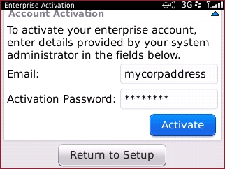 Enterprise Activation