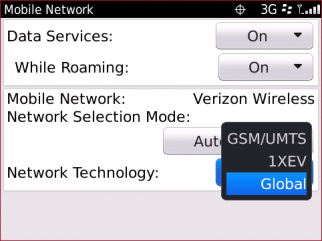 Network Technologies Settings