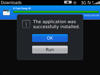 Successful installation prompt with OK