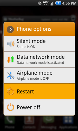 Phone Options with Restart