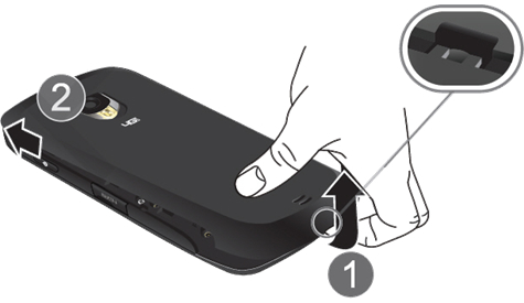 Remove battery cover