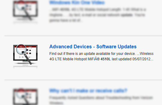 Search results, Advanced Devices - Softwre Updates