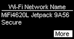 Wi-Fi Network Name with More