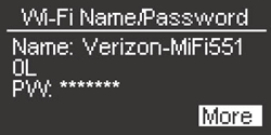 Wi-Fi Name/Password with More