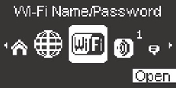 Wi-Fi Name/Password with Open