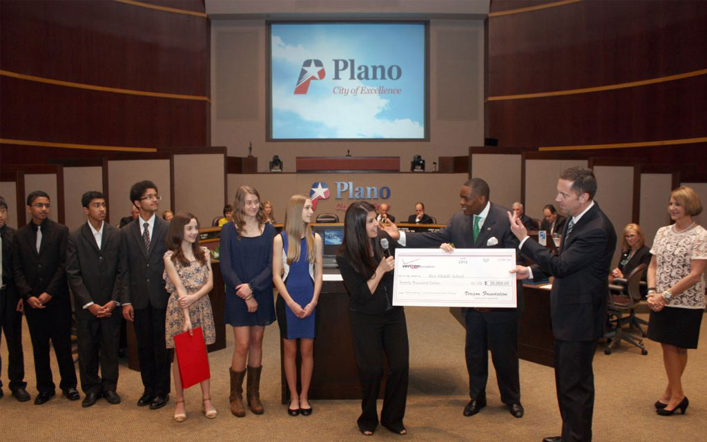 Verizon Recognizes Rice Middle School Students for Innovative App Challenge Win