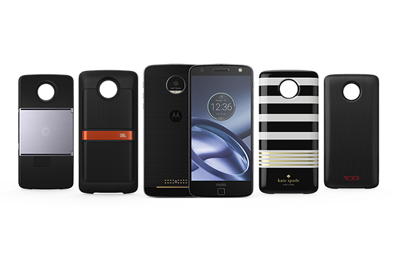 Exclusively from Verizon, an entirely new breed of smartphone: Moto Z Droids with Moto Mods