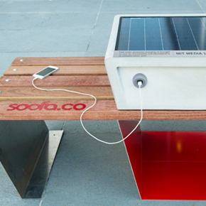 Startup Builds City Bench With Solar Te...