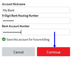 Image: Pay Bill ACH - My Verizon App Screenshot